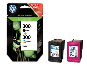 Hp CN637EE Multipack nero+colore 2 cartucce d' inchiostro HP 300: CC640EE + CC643EE