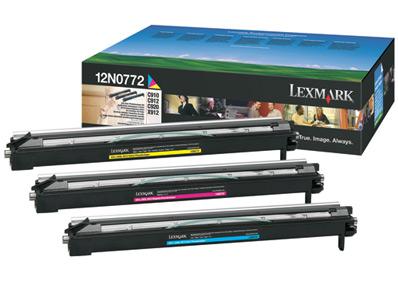 Lexmark 12N0772  Tamburo di stampa colore: cyano, magenta, giallo. Durata 28.000 pagine