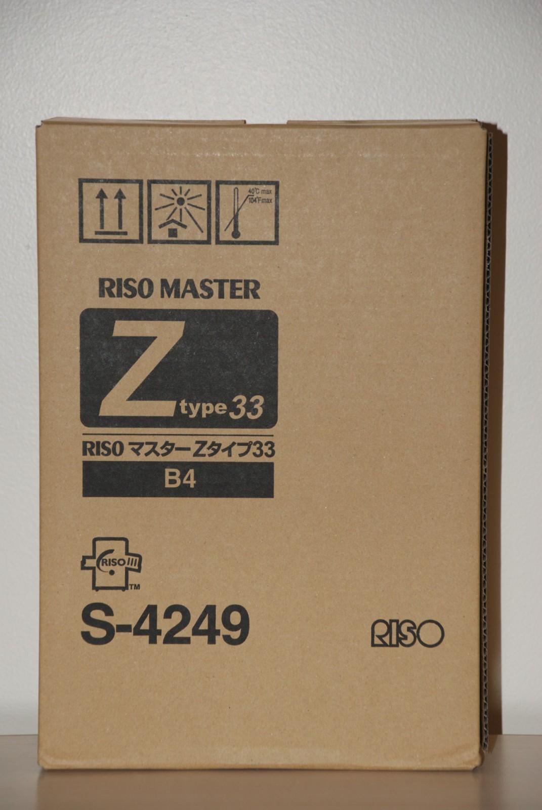 Risograph s-4249 master kit originale B4, confezione da 2 pezzi