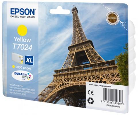 Epson C13T70244010 cartuccia giallo xl, durata 2.000 pagine