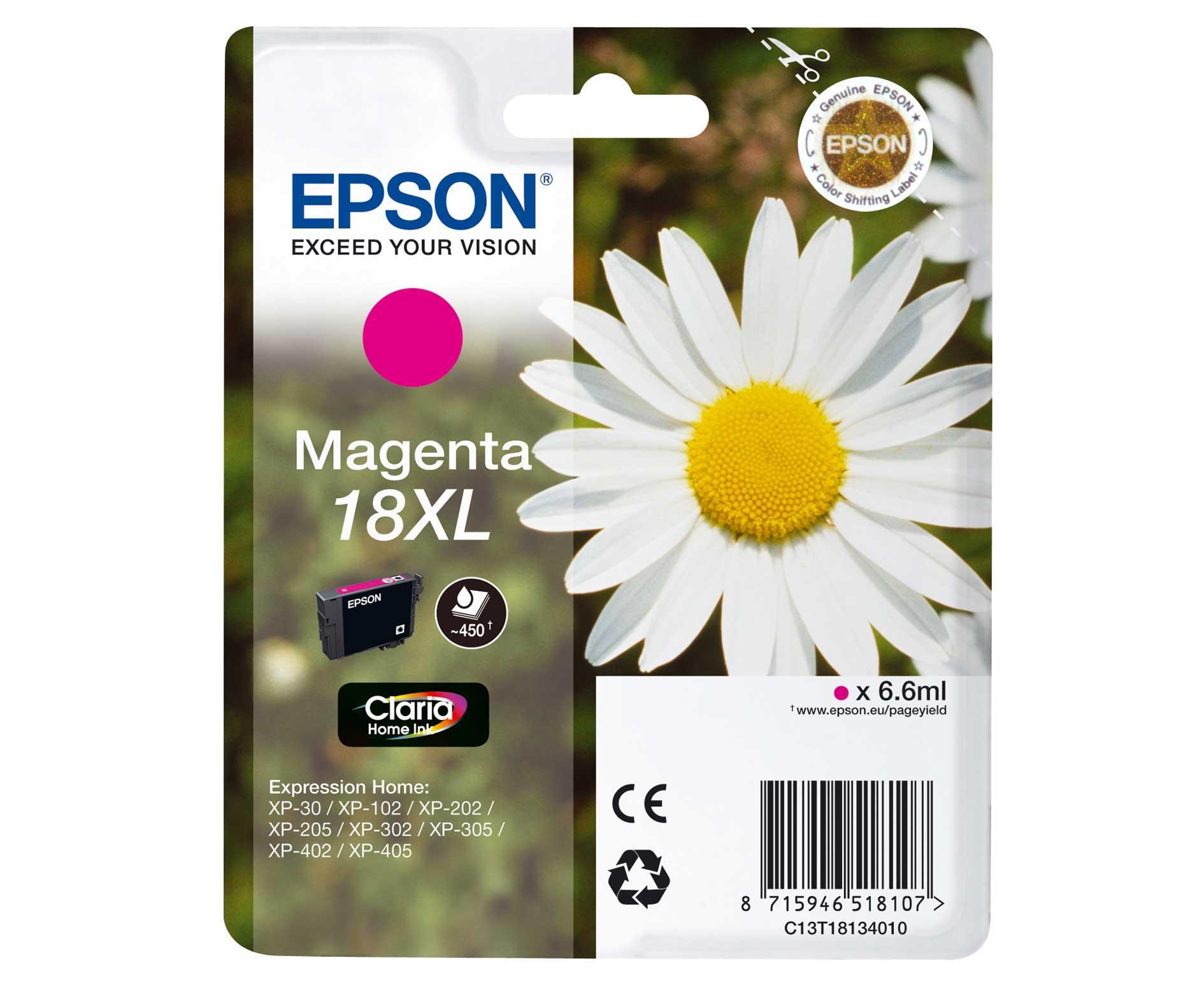 Epson C13T18134010   cartuccia magenta,  durata 450 pagine