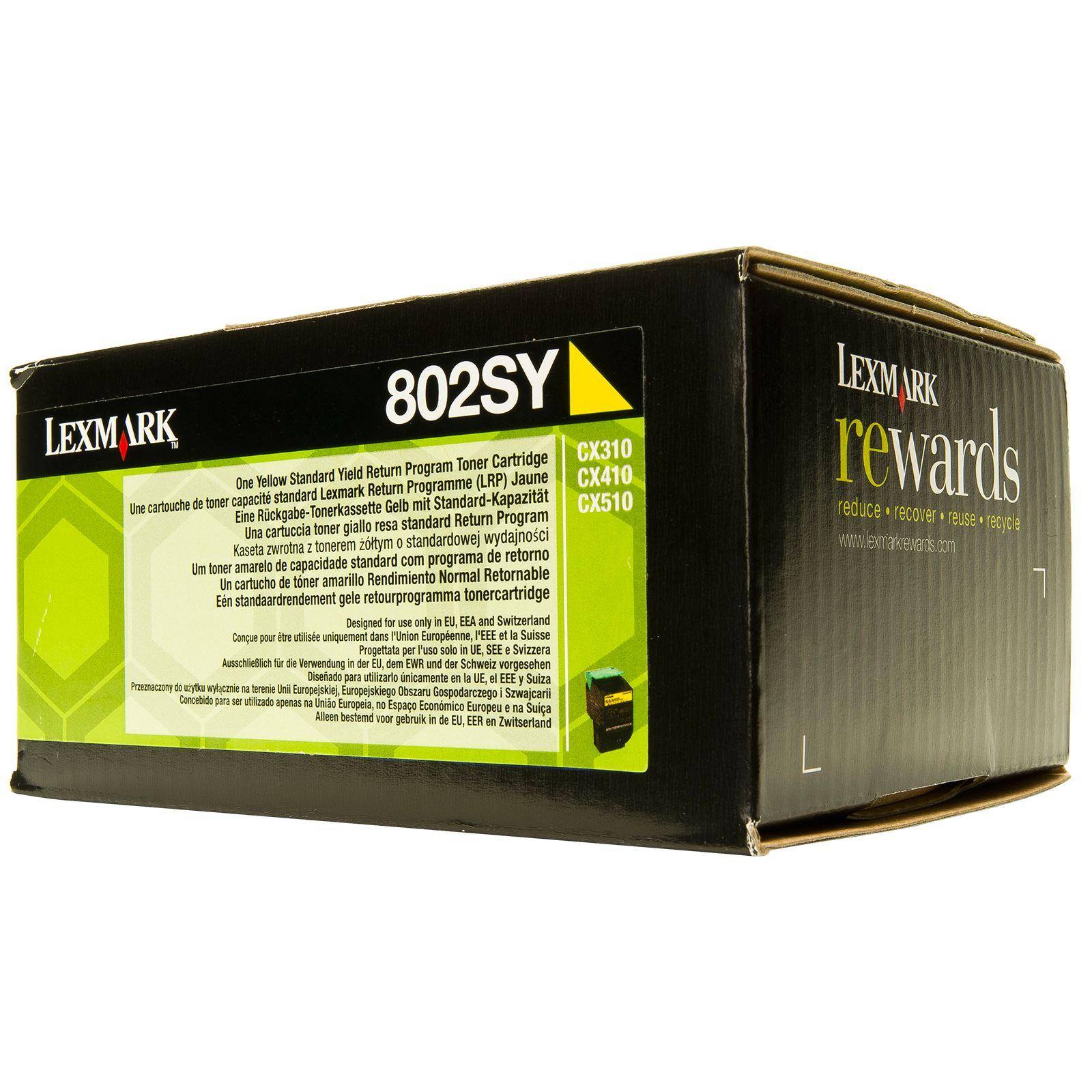 Lexmark 80C2SY0  toner giallo, durata 2.000 pagine