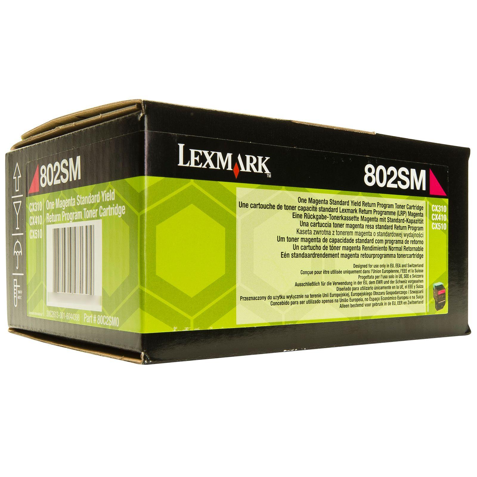 Lexmark 80C2SM0 toner magenta, durata 2.000 pagine