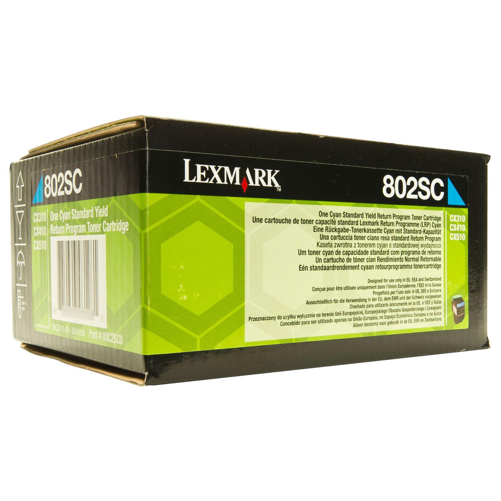 Lexmark 80C2SC0  toner cyano, durata 2.000 pagine