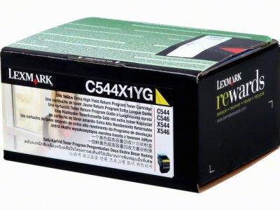 Lexmark C544X1YG toner giallo, durata 4.000 pagine
