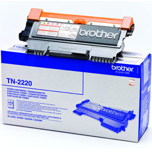 Brother TN-2220 toner originale nero, durata 2.600 pagine