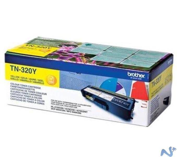 Brother tn-320y toner giallo, durata 1.500 pagine