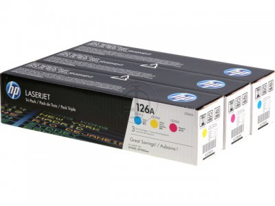 Hp CF341A  Value Pack, confezione 3 colori, cyano, magenta, giallo