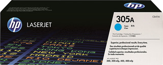 Hp CE411A toner cyano,  durata indicata 2.600 pagine