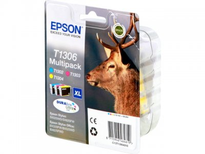 Epson C13T13064010 Confezione cyano-magenta-giallo, 3 pezzi. Durata 755 pagine