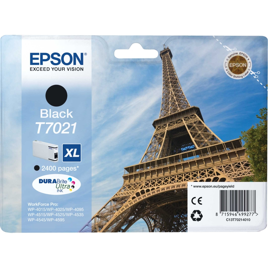 Epson C13T70214010   cartuccia nero xl, durata 2.400 pagine
