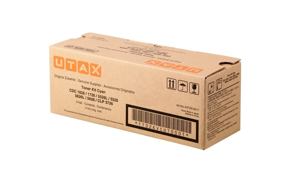 Utax-Triumph Adler 4472610011 toner cyano, durata  5.000 pagine