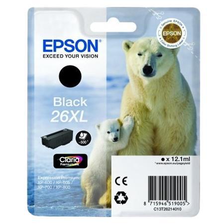 Epson C13T26214010 cartuccia nero, durata 500 pagine