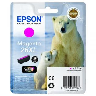 Epson C13T26334010 cartuccia magenta, durata 700 pagine