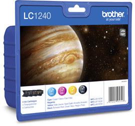 Brother LC-1240VALBPDR   Value Pack colore 4 cartucce: cyano, magenta, giallo, nero.LC-1240