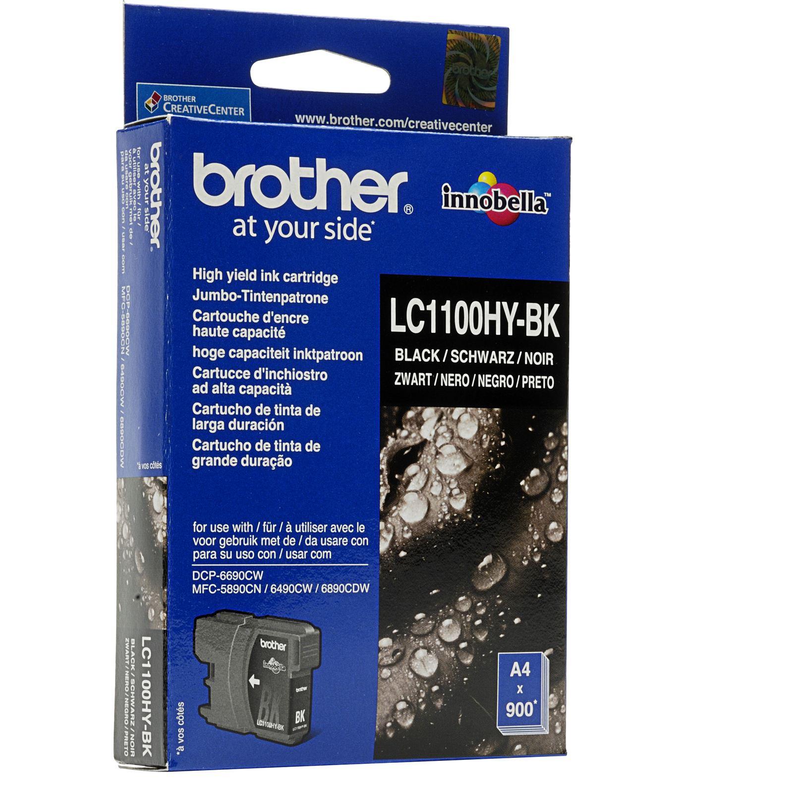 Brother LC-1100hybk Cartuccia d'inchiostro nero  900 pagine