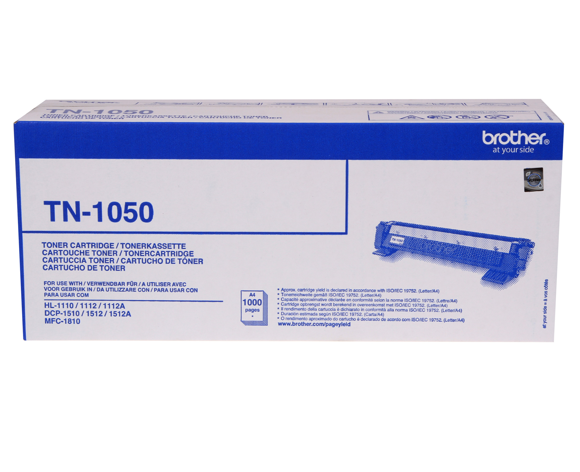 Brother tn-1050 toner originale, durata 1.000 pagine