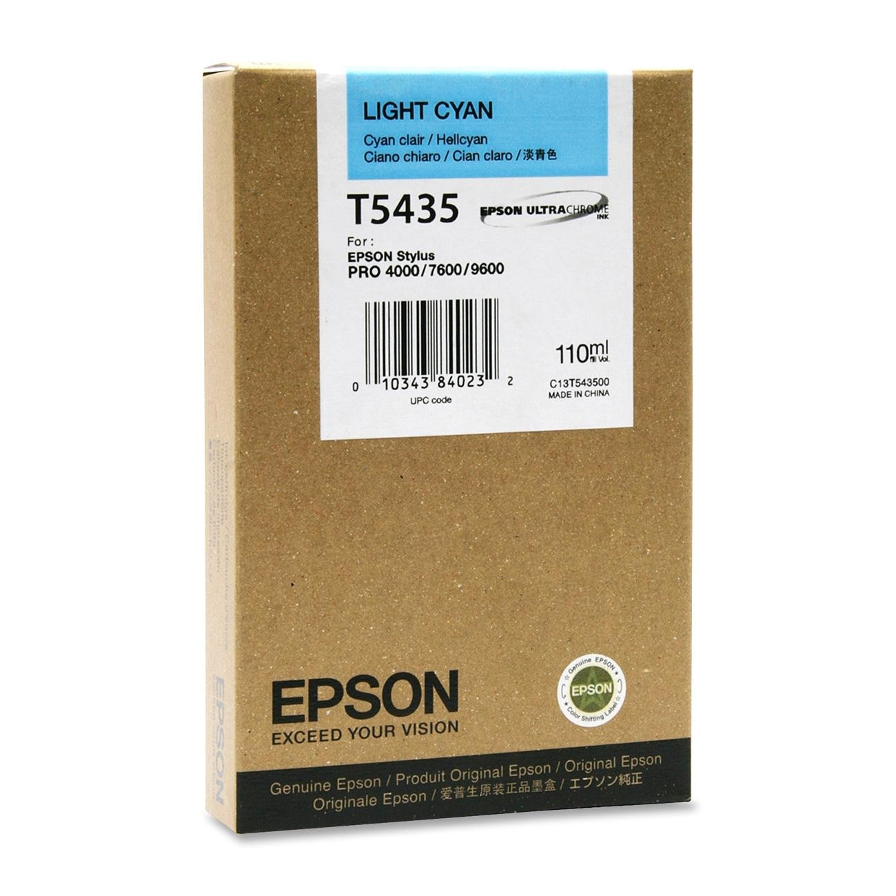 Epson T543500 cartuccia cyano-chiaro, capacit� 110ml
