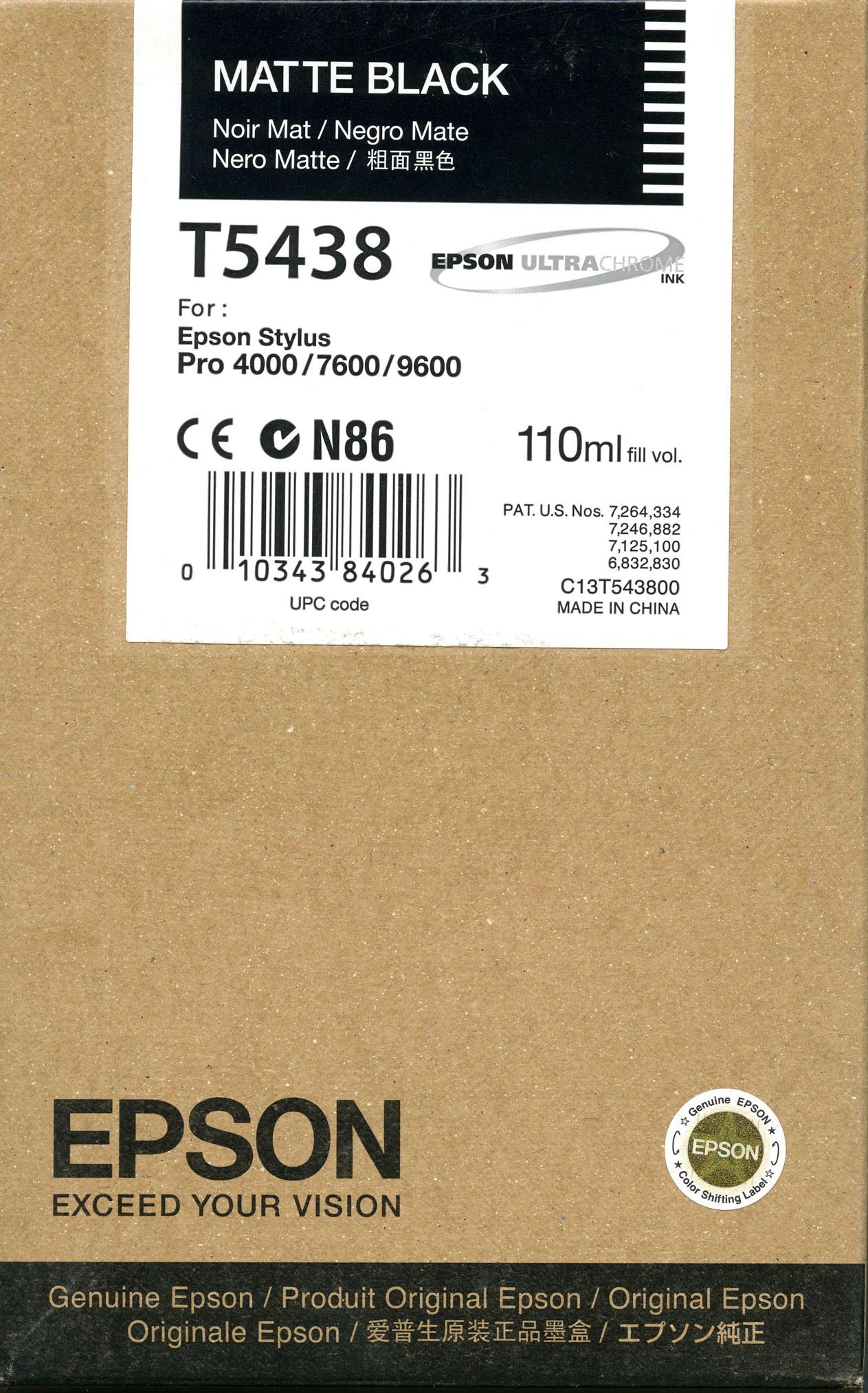 Epson T543800  Cartuccia nero/matte, capacit� 110ml