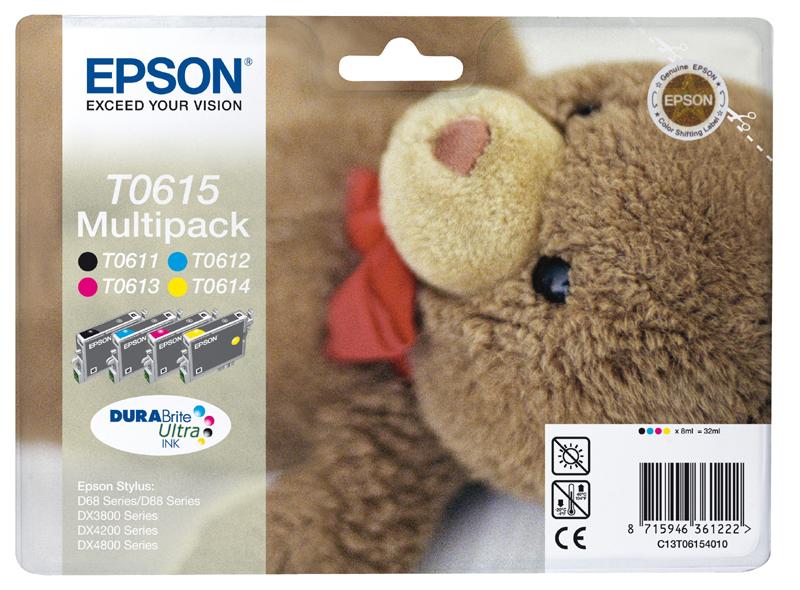 Epson C13T06154010 Multipack bk/m/c/y 4 cartucce: T0611 + T0612 + T0613 + T0614
