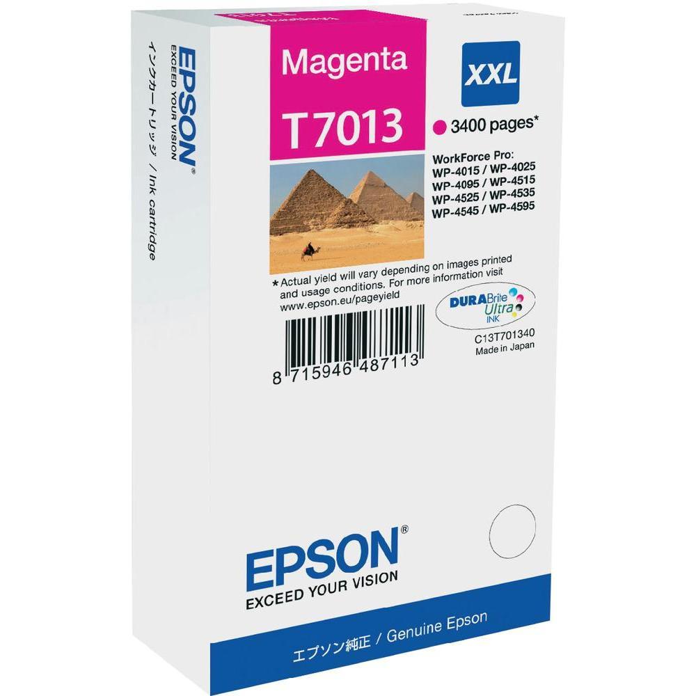 Epson T70134010 cartuccia magenta xxl, durata 3.400 pagine