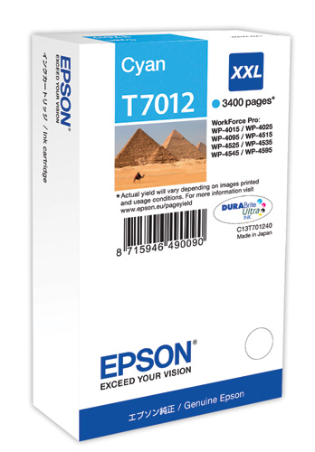 Epson T70124010 cartuccia cyano xxl, durata 3.400 pagine