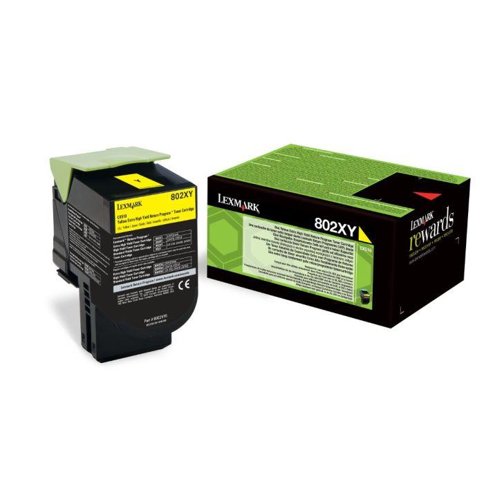 Lexmark 80C2XY0 toner giallo, durata 4.000 pagine