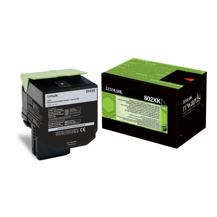 Lexmark 80C2XK0 toner nero, durata  8.000 pagine