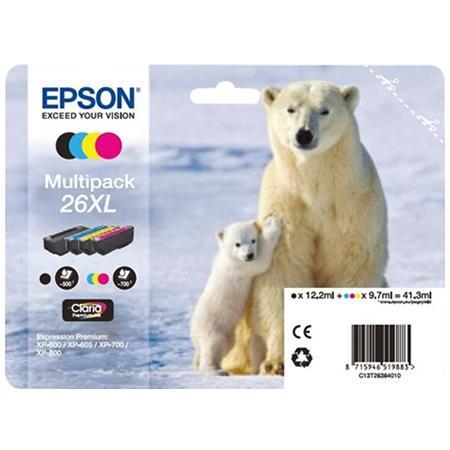 Epson C13T26364010 Confezione multipack 4 cartucce d'inchiostro XL: nero, cyano, magenta, giallo