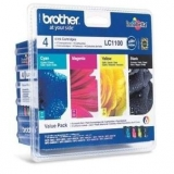 toner e cartucce - LC-1100HYVALBPDR Multi Pack, 4x Cartucce d'inchiostro: hybk/hyc/hym/hyy
