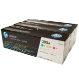 toner e cartucce - cf370am Multipack cyano/magenta/giallo CE411A + CE412A + CE413A, durata toner 2.600 pagine