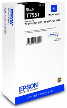 Epson C13T755140 Cartuccia d'inchiostro nero 100ml -XL,durata 5.000 pagine