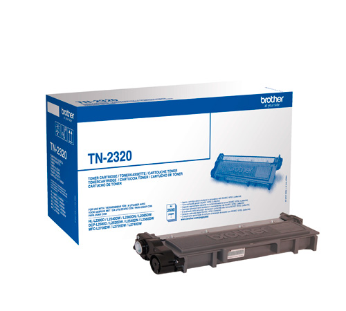 Brother TN-2320 toner nero, durata 2.600 pagine