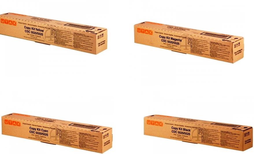 Utax-Triumph Adler 652511x multipack cyano-magenta-giallo-nero( 4 toner originali)