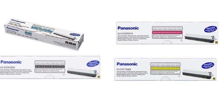 Panasonic kx-fat507x1 multipack 4 toner originali: cyano-magenta-giallo-nero