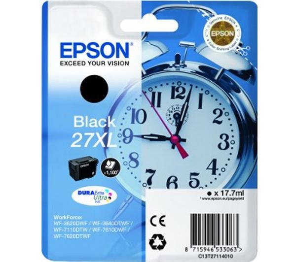 Epson C13T27114010 Cartuccia d'inchiostro nero 17.7ml, ~1100 pagine, XL