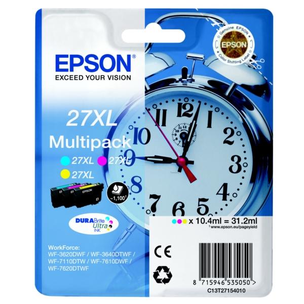 Epson C13T27154010 Multipack colore 3 Cartucce colore: T2712 + T2713 + T2714