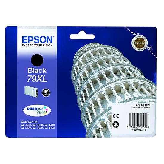 Epson C13T79014010 Cartuccia d'inchiostro nero 41.8ml, ~2600 pagine, 79XL