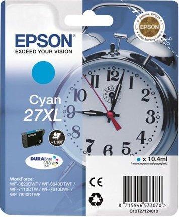 Epson C13T27124010 Cartuccia d'inchiostro ciano 10.4ml, ~1100 pagine, XL