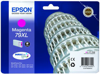 Epson C13T79034010 Cartuccia d'inchiostro magenta 17.1ml, ~2000 pagine, 79XL