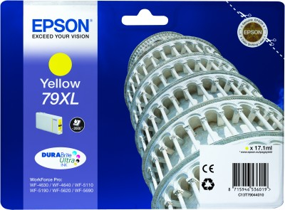 Epson C13T79044010 Cartuccia d'inchiostro giallo 17.1ml, ~2000 pagine, 79XL