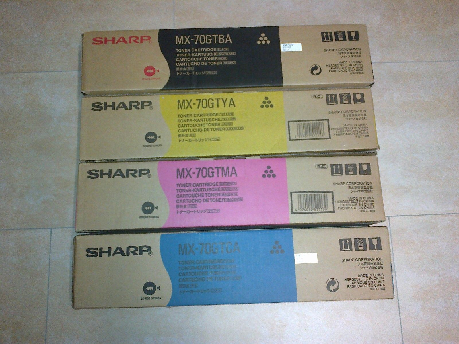 Sharp MX-70GTMA toner magenta durata 32.000p