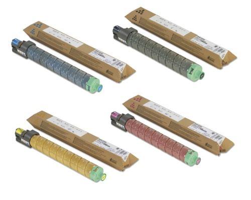 Ricoh 84119x multipack 4 colori originali: cyano, magenta, giallo, nero.