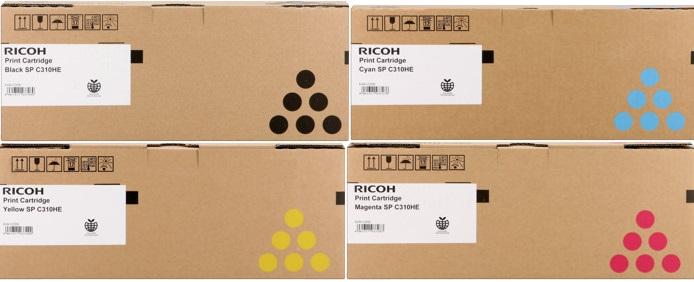 Ricoh 40648x Multipack originale 4 colori: cyano-magenta-giallo-nero ( alta capacit�)