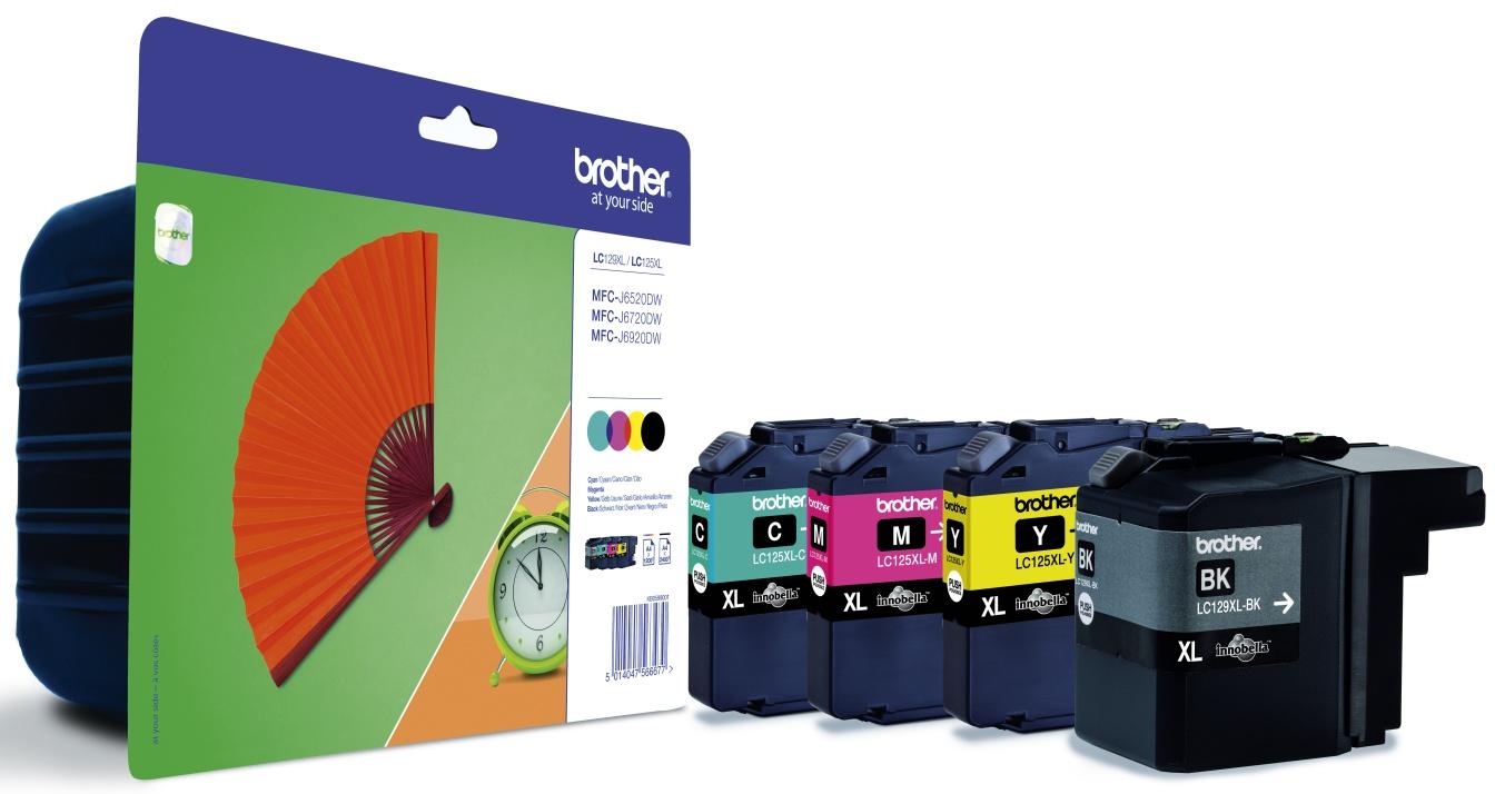 Brother LC-129XLVALBPDR Multipack 4 colori: lc129xl+lc125xl, bk-c-m-y