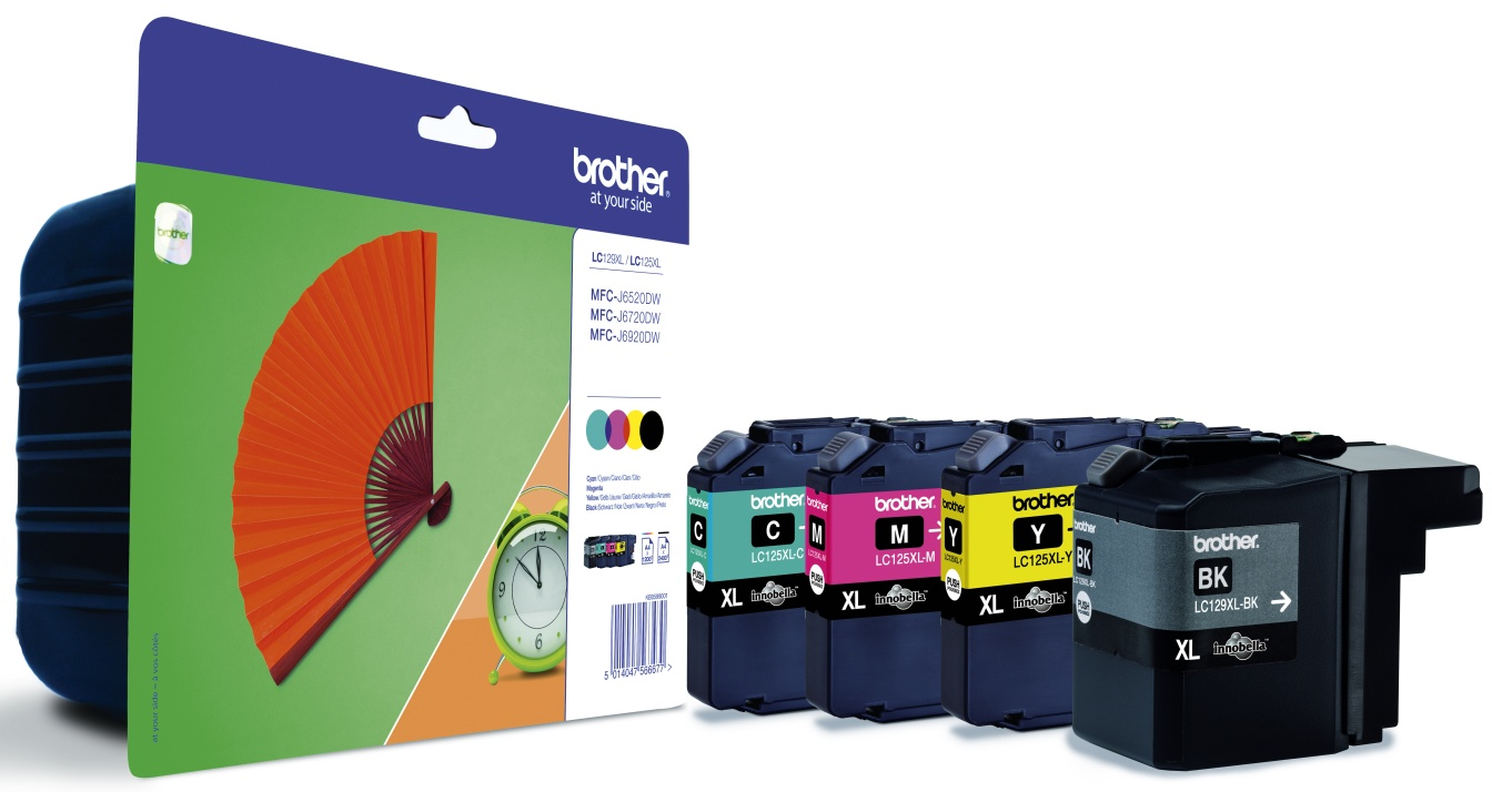 Brother LC-129XLVALBPDR Multipack 4 colori: lc129xl+lc125xl, bk-c-m-y