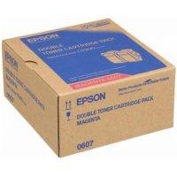 Epson C13S050607 toner magenta, durata 7.500 pagine, confezione doppia 2 pezzi