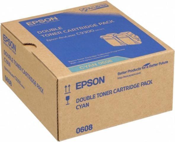 Epson C13S050608 toner cyano, durata 7.500 pagine, confezione doppia 2 pezzi