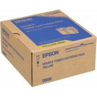 Epson C13S050606 toner giallo, durata 7.500 pagine, confezione doppia 2 pezzi