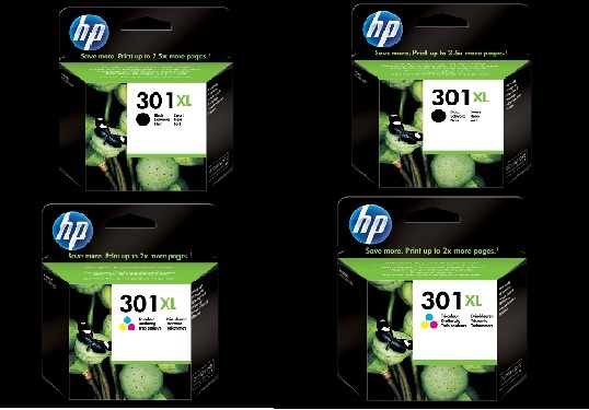 Hp 301-XL-4PCK  Pack colore 2x CH563EE + 2x CH564EE. Nero + colore